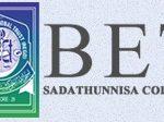 BET Sadathunnisa Degree College