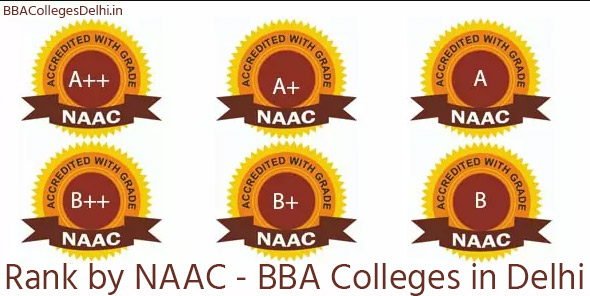 Rank wise by NAAC - BBA Colleges in Delhi